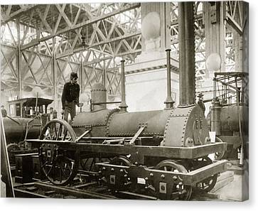 Jervis Locomotive, Museum Display Canvas Print by Miriam And Ira D. Wallach Division Of Art, Prints And Photographsnew York Public Library