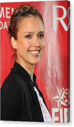 Jessica Alba At A Public Appearance Canvas Print by Everett
