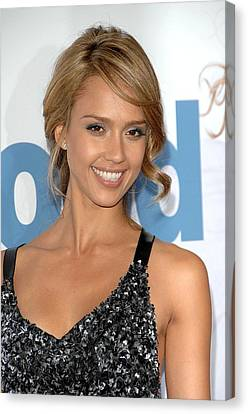 Jessica Alba At Arrivals For Premeire Canvas Print by Everett