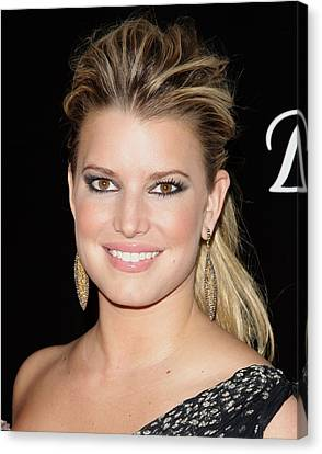 Jessica Simpson In Attendance Canvas Print by Everett
