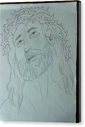 Jesus Canvas Print by Bishoy Girgis