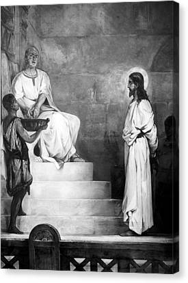 Jesus Christ, Title Pontius Pilate Canvas Print by Everett