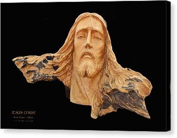 Jesus Christ Wooden Sculpture -  Four Canvas Print by Carl Deaville