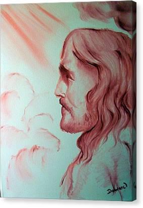 Jesus In His Glory Canvas Print by Raymond Doward
