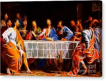 Jesus The Last Supper Canvas Print by Pamela Johnson