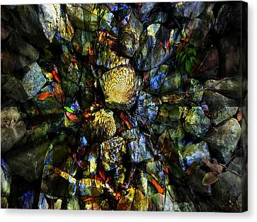 Jeweled Cavern Canvas Print by Mindy Newman