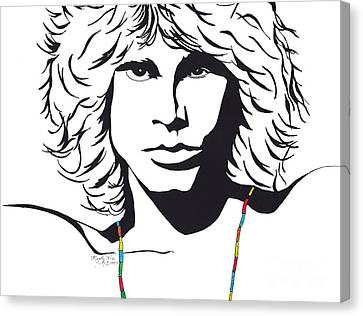 Jim Morrison Canvas Print by Marty Rice
