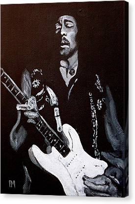 Jimi Hendrix Canvas Print by Pete Maier