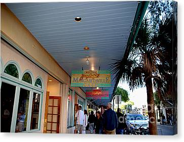 Jimmy Buffet's Margaritaville Key West Canvas Print by Susanne Van Hulst