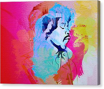 Jimmy Hendrix Canvas Print by Naxart Studio