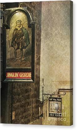 Jinglin' Geordie Canvas Print by Marion Galt