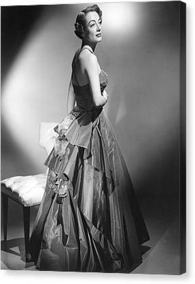 Joan Crawford, Circa Early 1950s Canvas Print by Everett