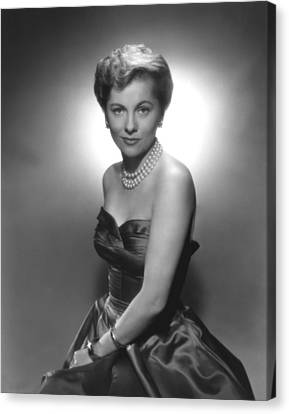 Joan Fontaine, Ca. 1950s Canvas Print by Everett