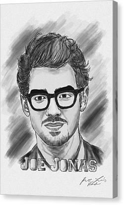 Joe Jonas Drawing Canvas Print by Pierre Louis