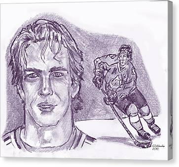 Joe Sakic Canvas Print by Chris  DelVecchio