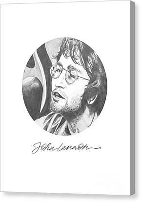 John Lennon Canvas Print by Six Artist