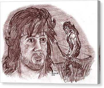 John Rambo Canvas Print by Chris  DelVecchio