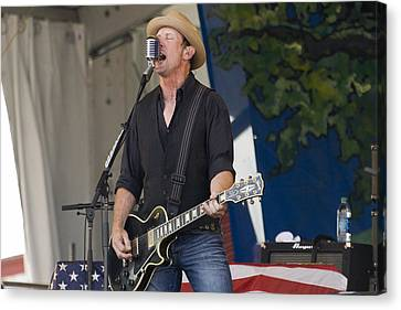 John Thomas Griffith Of Cowboy Mouth Canvas Print by Terry Finegan