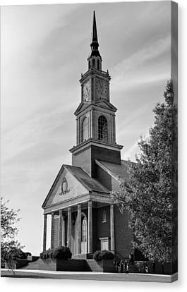 John Wesley Raley Chapel Black And White Canvas Print by Ricky Barnard