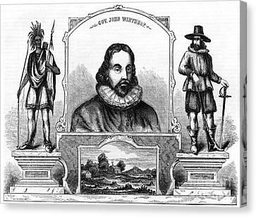 John Winthrop, English Puritan Lawyer Canvas Print by Photo Researchers