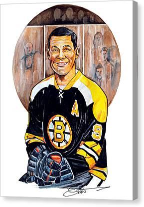 Johnny Bucyk Canvas Print by Dave Olsen