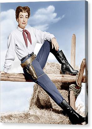Johnny Guitar, Joan Crawford, 1954 Canvas Print by Everett