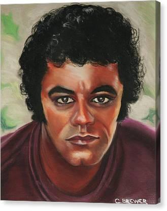 Johnny Mathis Canvas Print by Cyndi Brewer