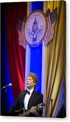 Jon Bon Jovi Performs Canvas Print by Everett