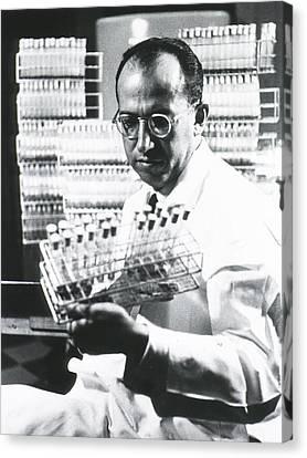 Jonas E. Salk 1914-1995, American Canvas Print by Everett