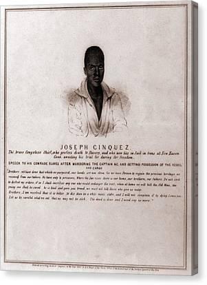 Joseph Cinquez, Lead Fifty-four African Canvas Print by Everett