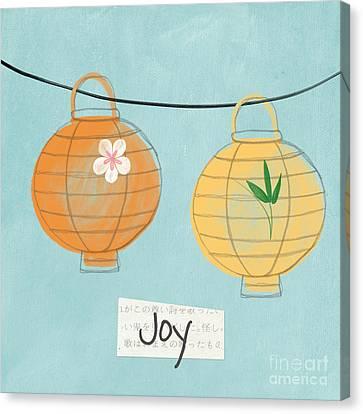 Joy Lanterns Canvas Print by Linda Woods