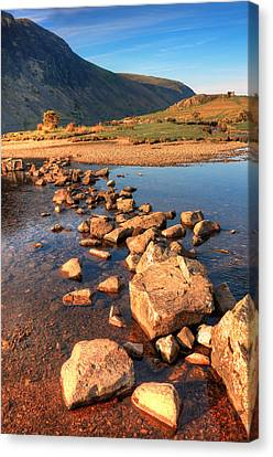 Jumping Stones Canvas Print by Svetlana Sewell