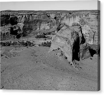 Junction Overlook Canyon De Chelly Az Canvas Print by Troy Montemayor