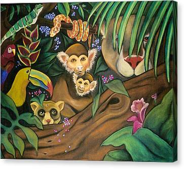 Jungle Fever Canvas Print by Juliana Dube