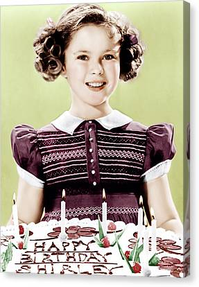 Just Around The Corner, Shirley Temple Canvas Print by Everett