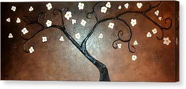Just Thirty Two Flowers Canvas Print by Edwin Alverio