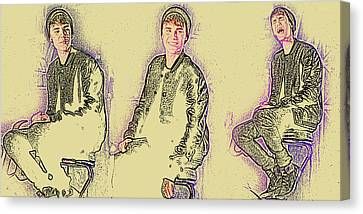 Justin Bieber 40 Canvas Print by Jez C Self