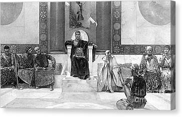 Justinian I (483-565) Canvas Print by Granger