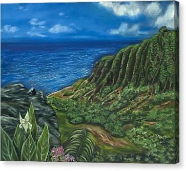 Kalalau Valley Canvas Print by Brandon Hebb