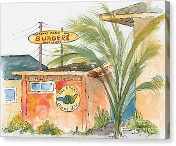 Kalapaki Beach Hut Canvas Print by Pat Katz