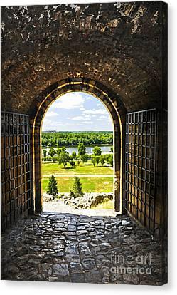 Kalemegdan Fortress In Belgrade Canvas Print by Elena Elisseeva