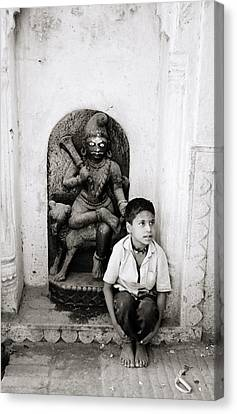 Kali In Benares Canvas Print by Shaun Higson