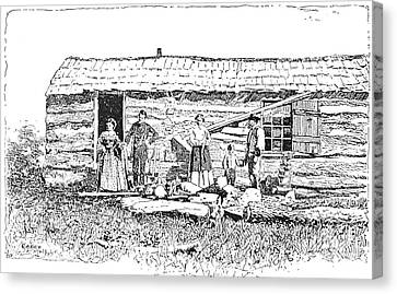 Kansas: Early House, 1854 Canvas Print by Granger