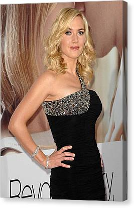 Kate Winslet Wearing A Balmain Dress Canvas Print by Everett