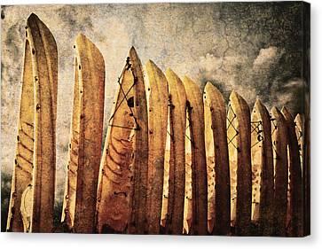 Kayaks Canvas Print by Skip Nall