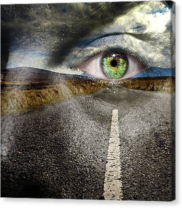 Keep Your Eyes On The Road Canvas Print by Semmick Photo
