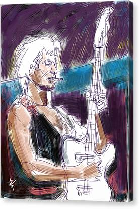 Keith Canvas Print by Russell Pierce
