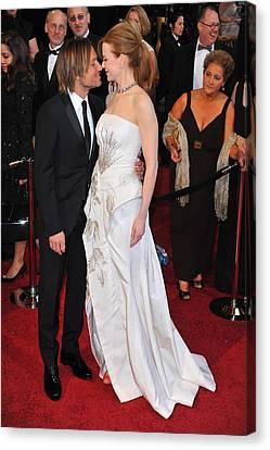 Keith Urban, Nicole Kidman At Arrivals Canvas Print by Everett