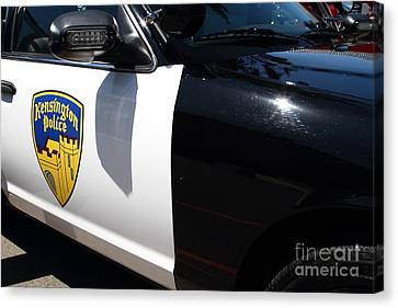 Kensington California Police Car . 7d15876 Canvas Print by Wingsdomain Art and Photography