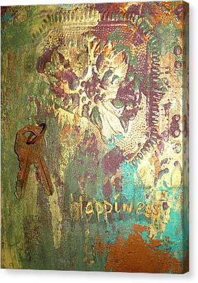 Keys To Happiness Canvas Print by Cheri Stripling